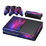 Starry Skin Vinyl Decal Full Body Faceplates Sticker For Xbox one console x 1 and controller x 2 (Purple)