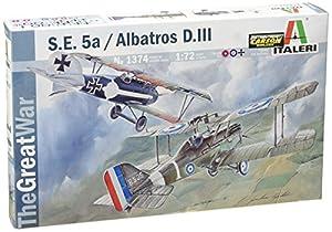 Italeri - aeroplano modelo S.E.5a Albatros D. III de la Primera Guerra Mundial, a escala 1:72