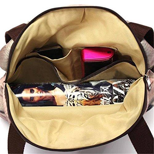 Ashdown Borsa a tracolla da donna con zip e borsa Tote-Borsa a tracolla, a forma di testa di gatto, con motivo stampa animale Yellow Cat Yellow Cat