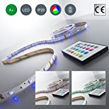 LED Stripes, LED Stripe, LED Lichterkette, LED Band, LED Streifen, LED Leiste, LED Lichtleiste, LED Bänder, Lichterkette LED, LED Lichtschlauch, weiß, bunt, inkl. Fernbedienung, inkl. Farbwechsel, 5m selbstklebend