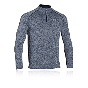 Under Armour Tech 1/4 Zip Men's Long-Sleeve Shirt, Academy/Steel/Steel (411), Large