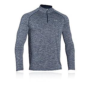 Under Armour Tech 1/4 Zip Men's Long-Sleeve Shirt, Academy/Steel/Steel (411), Medium