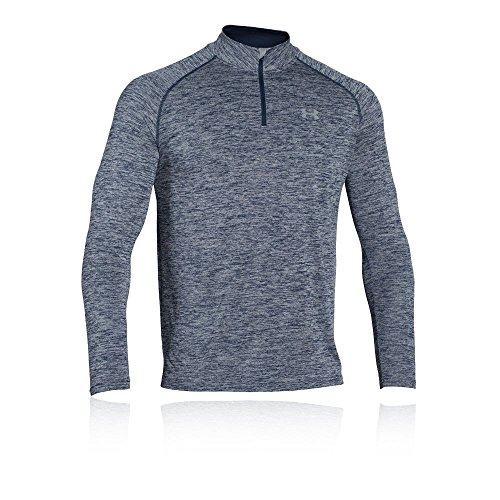 Under Armour Herren Fitness Sweatshirt UA Tech 1/4 Zip, Blau Midnight Navy Heather, M, 1242220-411 - Golf Pullover Für Herren