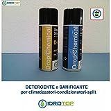 Kit de detergentes limpiadores (2 bombonas de 400 ml) para la limpieza de acondicionadores de aire/split