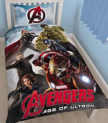 Character World Disney Marvel Avengers Age of Ultron Single Panel Duvet Set - low-cost UK light store.