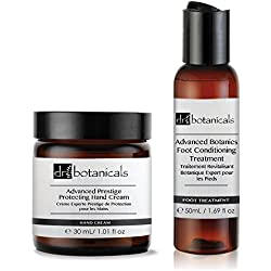 Dr Botanicals Advanced Prestige Protecting Hand Cream and Botanics Foot Conditioning Treatment, 1er Pack (1 x 2 Stück)