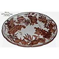 Piatto - Fruttiera - Linea Frutti Misti - Monocromo Marrone- Ceramica - Handmade - Le Ceramiche del Castello - Nina Palomba - 100% Made in Italy
