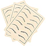 ROSENICE Tatuaje de cejas tatuaje de la piel de maquillaje Tatuaje de suministro falso ceja para microblading 3 hojas