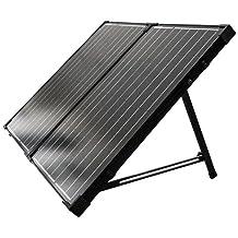 Renogy 12V Solarkoffer 2 x 50W (Ohne Laderegler) Solar Modul Zelle 100W Solarpanel Wohnmobil Solarmodul Solarzelle Camping Garten mit schwarzem Rahmen
