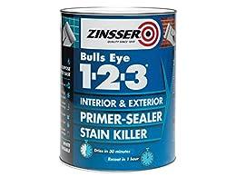Pintura selladora/de imprimación de Zinsser ZINBE1231L 1L 123 Bulls Eye, ZINBE1231L 0 wattsW, 0 voltsV