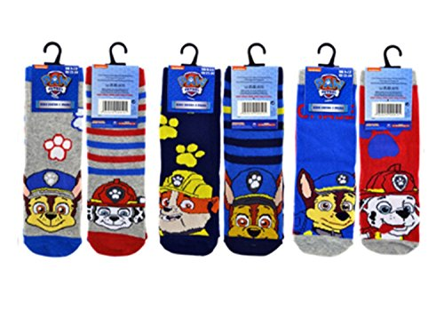 Paw Patrol Unisex Socks , UK 9-12, EU 27-30 (Pack of 6)