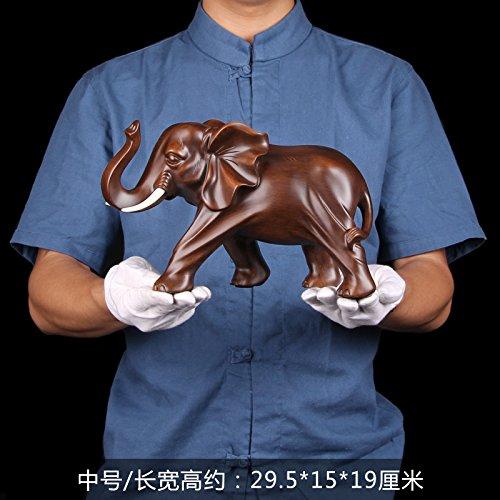 xoyoyo Une Paire D'Ornements D'Éléphants Chinois Artisanat Cadeaux Cadeaux d'entreprise Office Room Decor Vin sur Le Déplacer,19 - Droit Éléphant Mâle