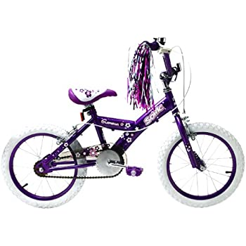 Sonic Glamour Girls Kids Bike Purple White 10 Inch Steel Frame