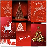 Pack of 30 Mixed Box Contempory Premium Christmas Cards
