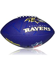 Wilson Football NFL Junior Baltimore Ravens Logo - Balón de fútbol americano ( infantil, caucho ) , color multicolor, talla 5