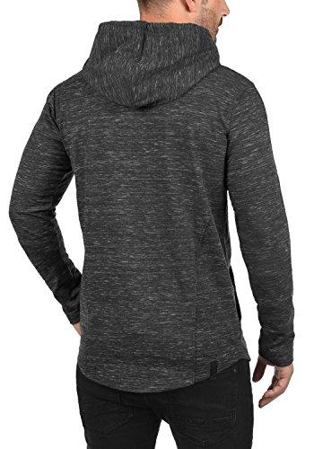 REDEFINED REBEL Mickey Herren Kapuzenpullover Hoodie Sweatshirt mit Kapuze aus hochwertiger Materialqualität Meliert Black