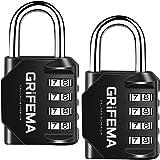 GRIFEMA GA1001 veiligheidshangslot, 4 digitalen, 2 stuks, lange schakels [exclusief bij Amazon]