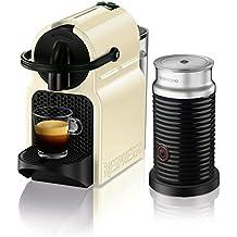 DeLonghi EN 80.CWAE Nespresso Inissia Vanilla Cream plus Aerocchino Milchaufschäumer