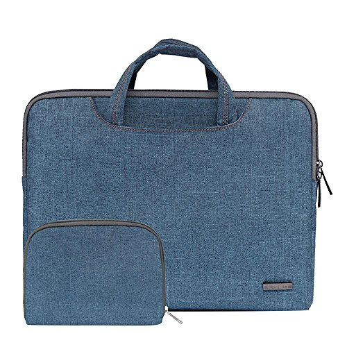 Price comparison product image Pawaca 13.3 Inch Thin Laptop Sleeve Case with Handle,  Nylon Shockproof Water Resistant Protective Briefcase Bag Side Pocket and Storage Bag for Apple MacBook Pro / Air / Lenove / iPad / Acer / Asus / Dell
