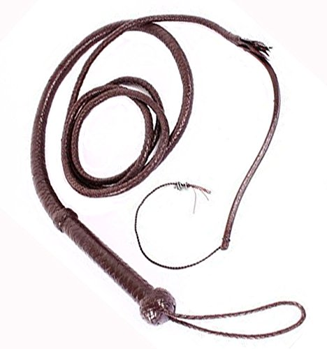 Hunter Dark Brown Whip Beautiful Real Cowhide Leather Indiana Jones Bullswhip Bull Whip Picture