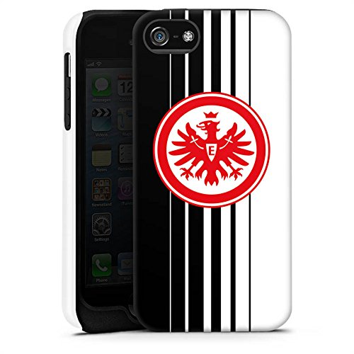 Apple iPhone X Silikon Hülle Case Schutzhülle Eintracht Frankfurt Fanartikel Fußball SGE Tough Case matt