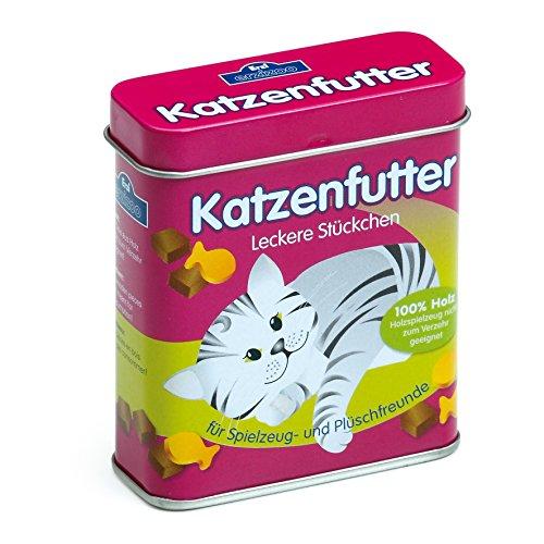 Preisvergleich Produktbild Erzi Katzenfutter in der Dose, Spielzeug-Katzenfutter, Kaufladenzubehör