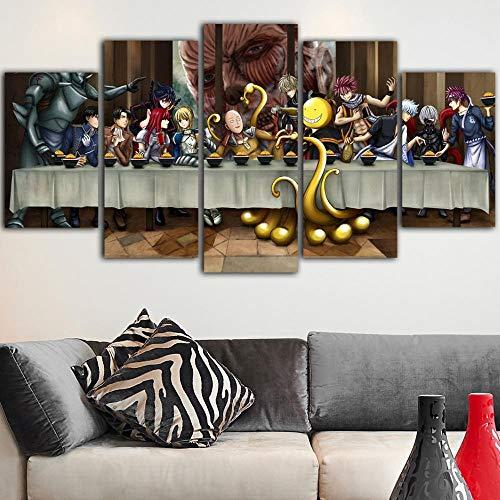 Wodes 5 Piezas Lienzo Pintura Fairy Tail Dormitorio...