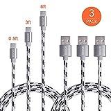 USB C Kabel, ofspower 3 PACK 0,5 ft 3ft 6ft Nylon geflochtenes USB C Daten & Ladekabel mit Aluminium Stecker für Nexus 6P/5 x, LG G5, OnePlus 2 und mehr
