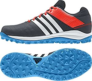 Adidas da uomo SRS 4Hockey nero Tomaia In Mesh Traspirante Suola Traxion m29763, Uomo, Adidas Srs 4 M, Black/Orange/Blue, UK 13.5 /EU 49 1/3
