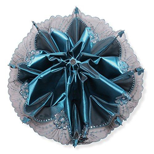 TaschenschirmeSchwarze Gummi Schirm Licht Fallschirm Weibliche Regenschirm Schirm,Blau (Fallschirm Blau)