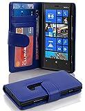 Cadorabo - Book Style Hülle für Nokia Lumia 920 - Case Cover Schutzhülle Etui mit 3 Kartenfächern in KÖNIGS-BLAU