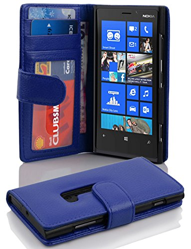 Cadorabo - Book Style Hülle für Nokia Lumia 920 - Case Cover Schutzhülle Etui mit 3 Kartenfächern in KÖNIGS-BLAU Nokia Lumia 920 Hülle Case