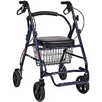 TX Carro de la Compra, Carrito de Compras Empuje manualmente 4 Ruedas Plegables, sillas
