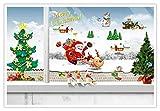 Adesivi natalizi Regali per albero di Natale di Babbo Natale Soggiorno Adesivi murali finestra camera da letto camera da letto decorativi