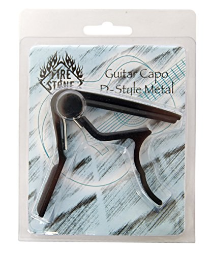 Fire & Stone D-Style Kapodaster für Konzertgitarre Aluminium schwarz