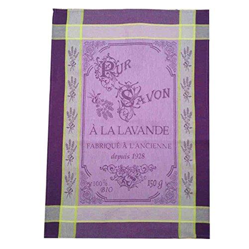 MCTISSUS-Geschirrtuch, Baumwolle/jacquard, pur Seife Lavendel, Violett - Geschirrtücher Lavendel