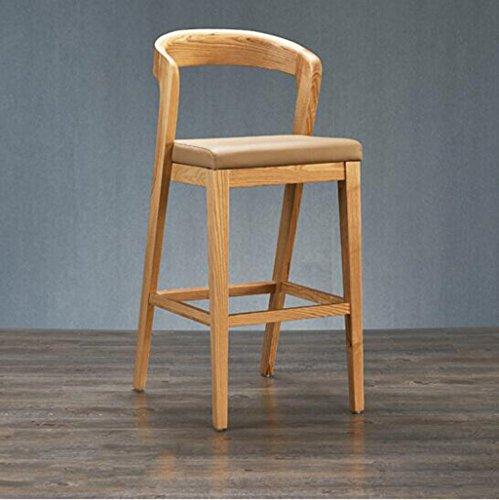 tabouret en bois Tabouret de bar scandinave/chaise de bar rembourrée, chaise de bar, tabouret de bar, pieds en bois massif de noyer (Couleur : B)