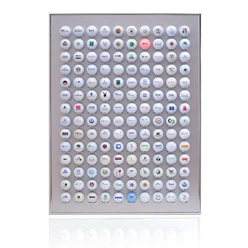 Knix Premium Golfball Setzkasten aus Aluminium für 140 Golfbälle - Schaukasten, Golf-Regal Vitrine Display passionierte Golfer