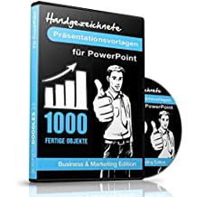 1000 Handgezeichnete Präsentationsvorlagen für PowerPoint -: Business & Marketing Edition für PC & Mac