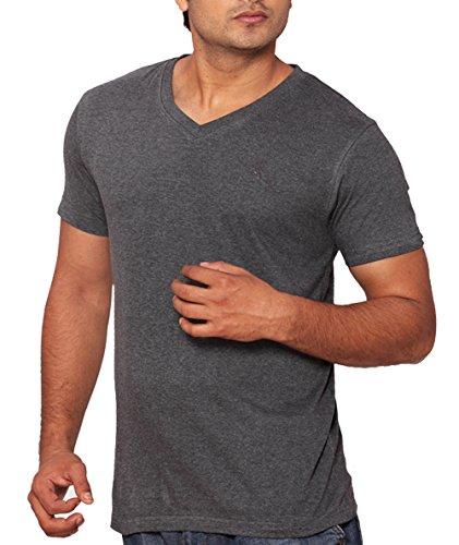 LUCfashion Mens Exclusive Premium Fashionable Cotton Half Sleeve V-neck T-shirt