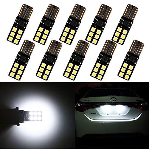 Grandview 10pcs T10 W5W Led Canbus Super Luminoso Bianco 501 194 168 3030 12-Smd Lampadine Senza Errori Per Lampadine Interne Segnale Dashborad Parking Luci Di Posizione (9V-26V)