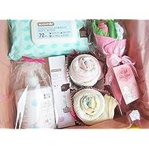 MAXI Canastilla para Bebés con Productos SUAVINEX y Ropita para Bebé | TODO es de MARCA, 100% ALGODÓN y de Talla 1-6 meses | Baby Shower Gift Idea | Idea Regalo para Gemelas o para un MAXI Regalo a una Bebé! | Versión Rosa, Para Niñas