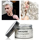 #2: Fashion Hair Styling Pomade Silver Ash Grandma Grey Hair Wax Men Temporary Disposable Hair Dye Coloring Mud Cream Drop Shipping