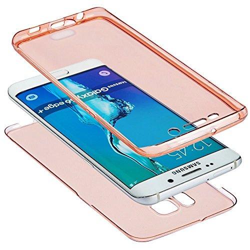 JAWSEU Coque Etui pour Samsung Galaxy J3/J3 2016,Samsung Galaxy J3/J3 2016 Coque en Silicone Transparent,Samsung Galaxy J3/J3 2016 Silicone Coque Cristal Clair Etui Housse,Samsung Galaxy J3/J3 2016 So Or/clair