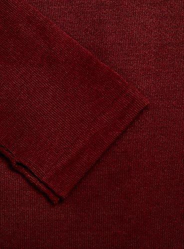 oodji Ultra Damen Pullover Basic mit 3/4-Ärmeln Rot (4900N)
