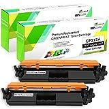 Cartouche de Toner Compatible CF217A (17A) 2 Noir avec Puce GREENPRINT 1600 Pages pour imprimante Laser HP Laserjet Pro M102a M102w, Imprimante Laserjet Pro M130fn M130fw M130nw M130a