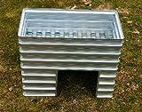 Klein-Hochbeet mit Ausschnitt von MSL aus verzinktem Stahlblech (Metall), Typ KHA