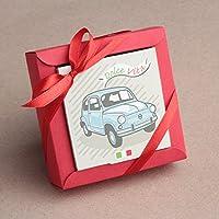 """Ballotins à dragées - boites à dragées forme nina petit modèle Italie """"Dolce Vita"""" voiture italienne x2 mariage baptême communion anniversaire"""
