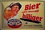 Kaiser Weißbier Deutsches Brauhaus Berlin Blechschild Schild Blech Metall Metal Tin Sign 20 x 30 cm