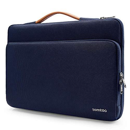 tomtoc Laptop Aktentasche kompatibel mit HP 15/15,6 Zoll Lenovo ThinkPad E575 / IdeaPad S510, Notebook Tasche Chromebook Tragetasche Computer Schutzhülle, Dunkel Blau